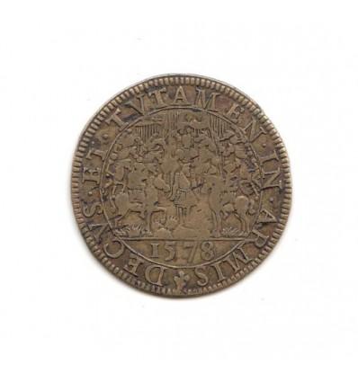 """Jeton Henri III """" decus et tutamen in armis """" 1578"""