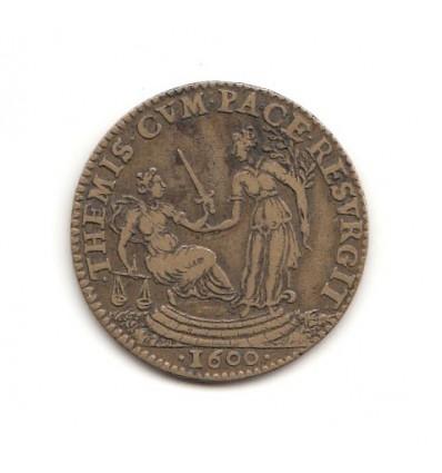 "Jeton Henri IV "" themis cum pace resurgit "" 1600"