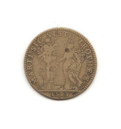 """Jeton Henri IV """" marti sic sisto tropheae """" 1595"""