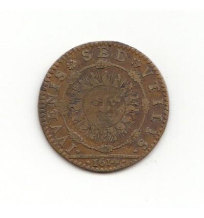 "Jeton Louis XIII "" iuvenis sed utilis "" 1614"