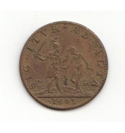 "Jeton Louis XIII "" sic itur ad alta "" 1603"