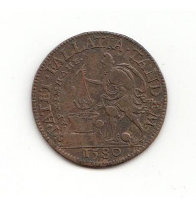 """Jeton Henri III """" patet fallatia tandem """" 1580"""