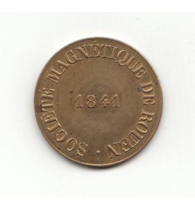 Jeton société magnétque de Rouen 1841