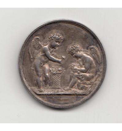 Médaille de mariage par Denon et Andrieu 1828