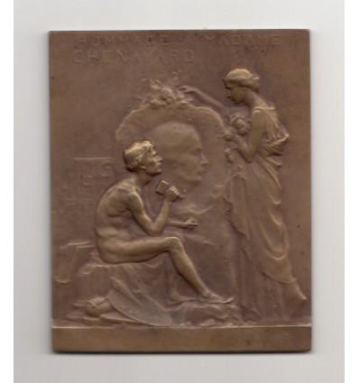 Hommage de Madame Chenavard à son époux par Raoul Bénard 1911