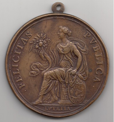 """Louis XIV ville de Paris """" Felicitas Publica """" 1672"""