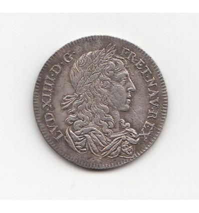 """Jeton Louis XIV """" hoc sydere lilia florent """" s.d."""