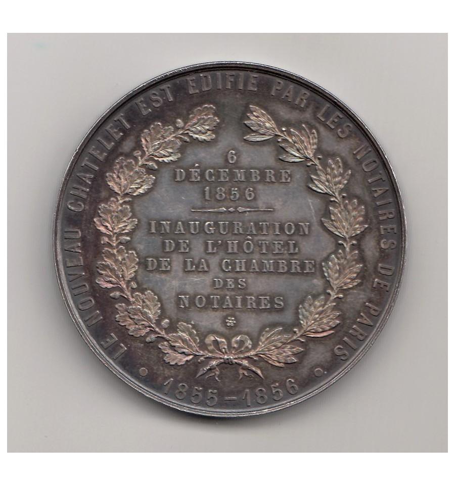 inauguration de l 39 h tel du ch telet si ge de la chambre des notaires de paris 1856 jetons et. Black Bedroom Furniture Sets. Home Design Ideas
