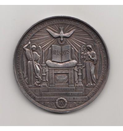 Médaille de baptême, première communion et confirmation 1898