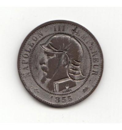 Satirique 10 centimes contremarque vampire 1855 D