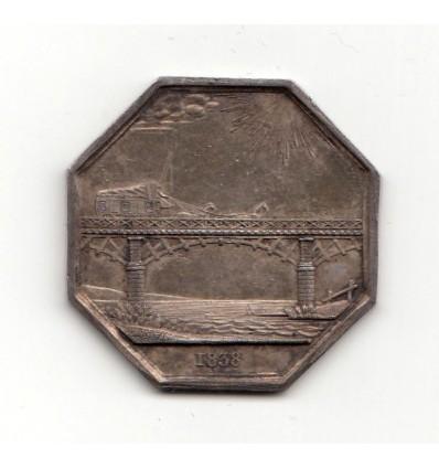 Jeton compagnie des ponts d'Asnières et d'Argenteuil 1838