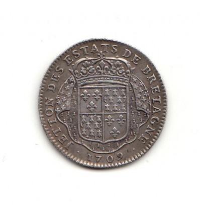 Jeton Louis XIV Etats de Bretagne 1709