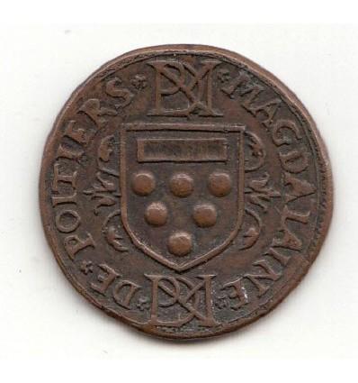 Jeton aux armes de Magdelaine de Poitiers et Nicolas de la Montagne s.d.