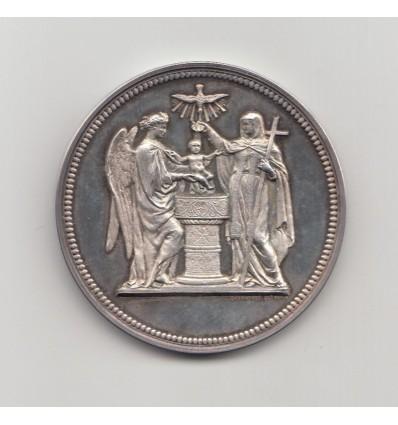 Médaille de baptême, noblesse espagnole,  Eglise de la Madeleine 1875