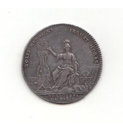 Jeton Louis XV corporation des horlogers de Paris s.d.