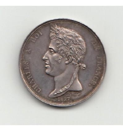 Jeton Charles X société d'encouragement pour l'Industrie Nationale  1827