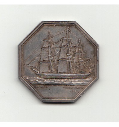 Jeton compagnie d'assurances maritimes du Havre 1850