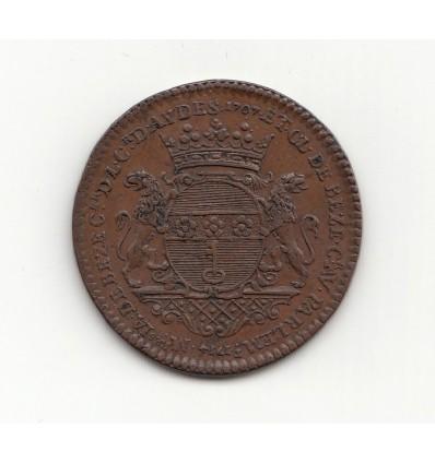 Cour des monnaies de Paris, jeton aux armes de Jacques et Claude de Bèze 1714