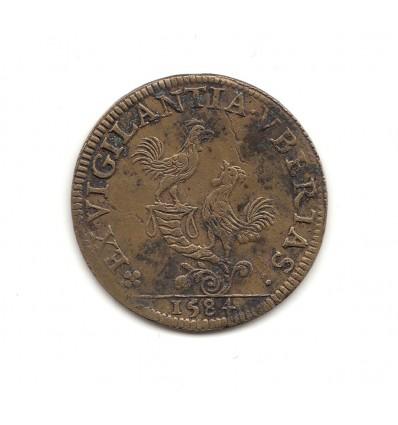 Jeton Henri III ville de Rouen 1584
