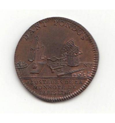 Jeton monnayeurs et ajusteurs de la Monnaie de Paris 1756