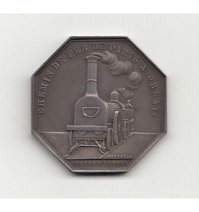 Jeton Napoléon III Chemin de fer de Paris à Orsay, système Arnoux 1853