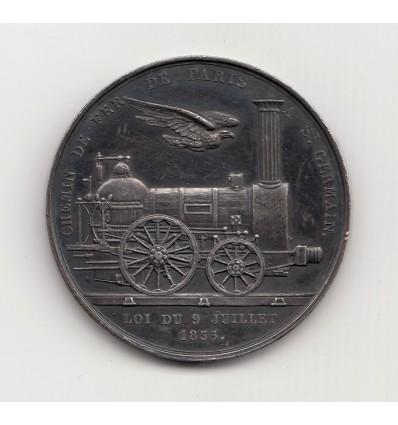 Louis-Philippe I Chemin de fer de Paris à Saint-Germain 1835