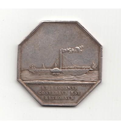 Jeton compagnie des bateaux à vapeur du Rhône 1830