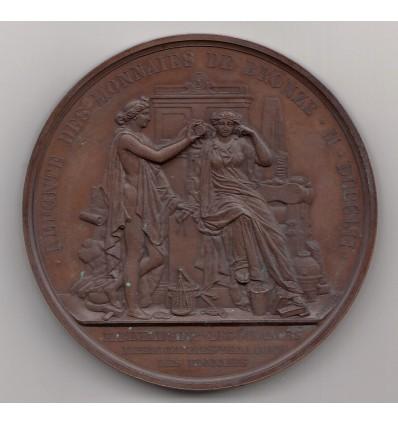 Napoléon III refonte des monnaies de bronze 1852