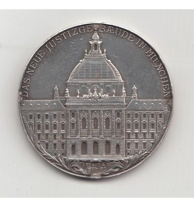 Allemagne, Luitpold de Bavière, inauguration du palais de justice de Munich 1897