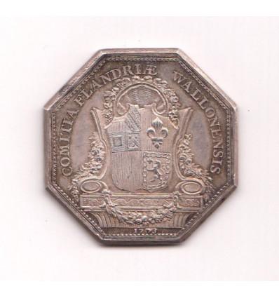 Jeton Louis XV Etats de la Flandre wallonne 1773