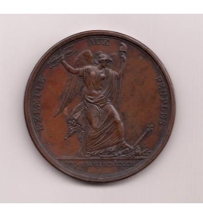 Constitution, Prise des Tuileries 1792