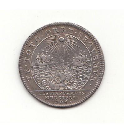 Jeton corporation des marchands merciers 1704