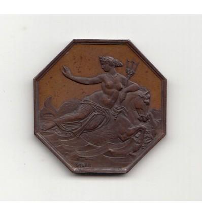 Jeton L'Amphitrite société d'assurances maritimes 1861