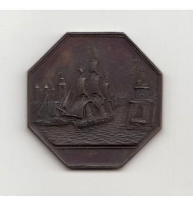 Jeton Le Comptoir Maritime société d'assurances maritimes 1857