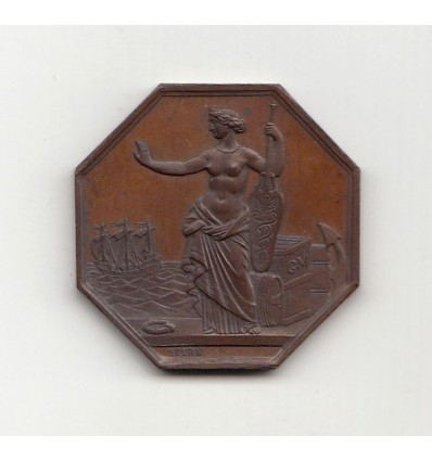 Jeton La Garantie Maritime société d'assurances maritimes 1860