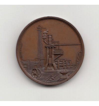 Jeton société des aciéries et forges de Firminy 1854
