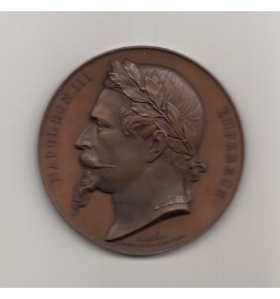 Napoléon III hommage à Gustave Rouland, ministre de l'Instruction publique et des Cultes 1863