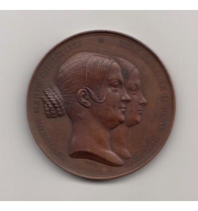 Visite la reine d'Espagne Isabelle II à la Monnaie 1840