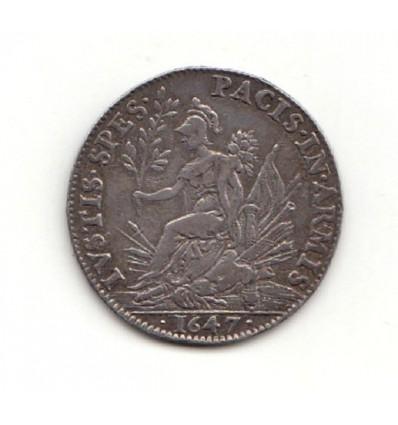 Jeton Louis XIV ordinaire des guerres traité de Munster 1647