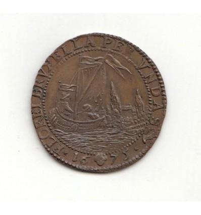 Pays-Bas méridionaux, jeton aux armes de Pierre-Josse d'Armstorff, intendant du canal 1675