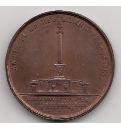 Napoléon I colonne à Marseille 1802