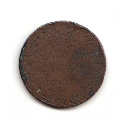 Médaille de mariage gravée s.d. ( fin XVIII ème - début XIX ème )