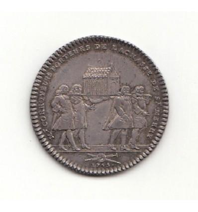 jeton Louis XVI corroyeurs de la châsse de Saint-Merry 1755