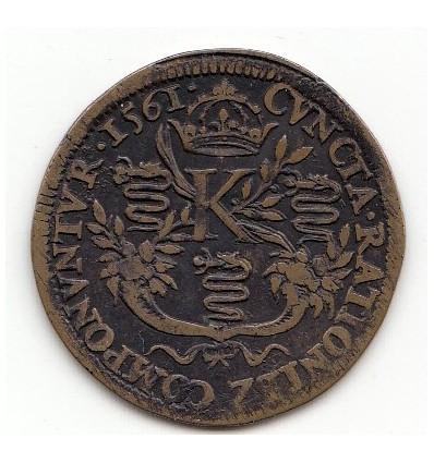 Jeton Charles IX chambre des comptes de Blois 1561