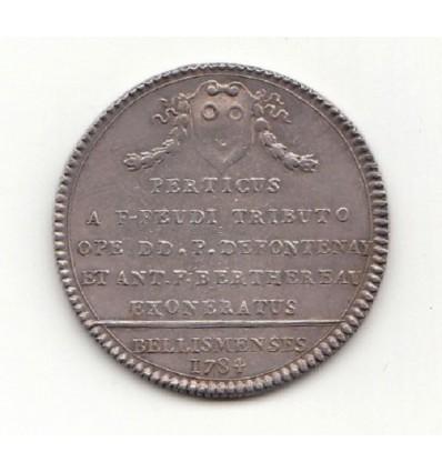 Le Perche, jeton Louis XVI abolition des Francs-fiefs, ville de Bellême 1784