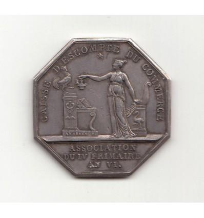 Jeton Napoléon I caisse d'escompte du commerce 1802