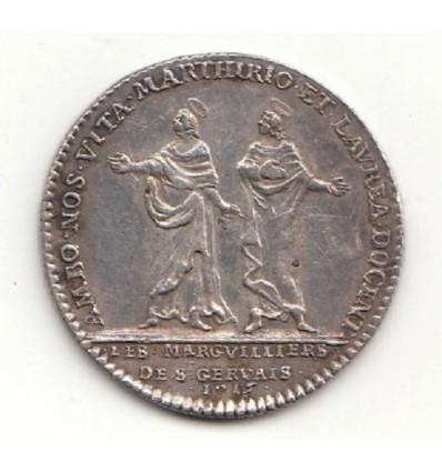 Jeton Louis XV marguilliers de Saint Gervais 1715