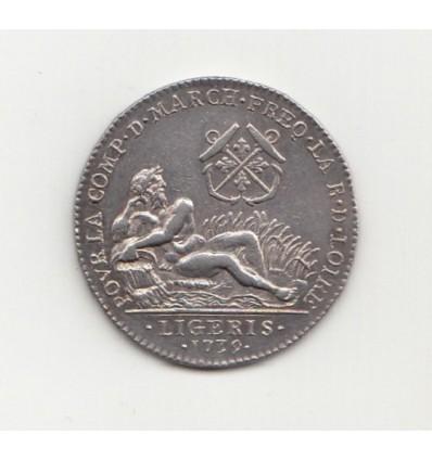 Jeton communauté des marchands de la Loire 1739