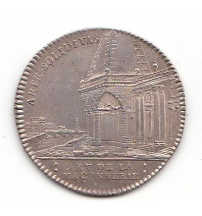 Jeton Louis XV corporation des maîtres-maçons s.d.