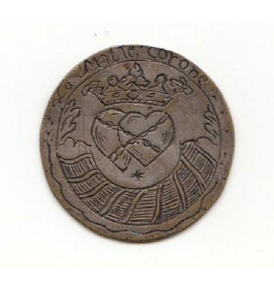 """Médaille de mariage """" l'amitié couronnée """", gravée 1760"""